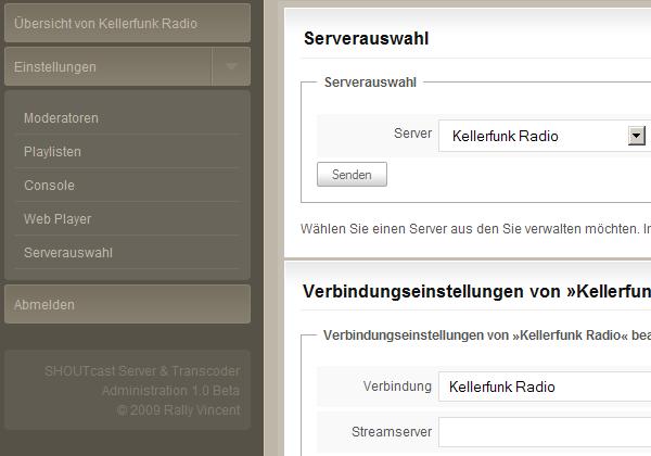 SHOUTcast Server & Transcoder Administration
